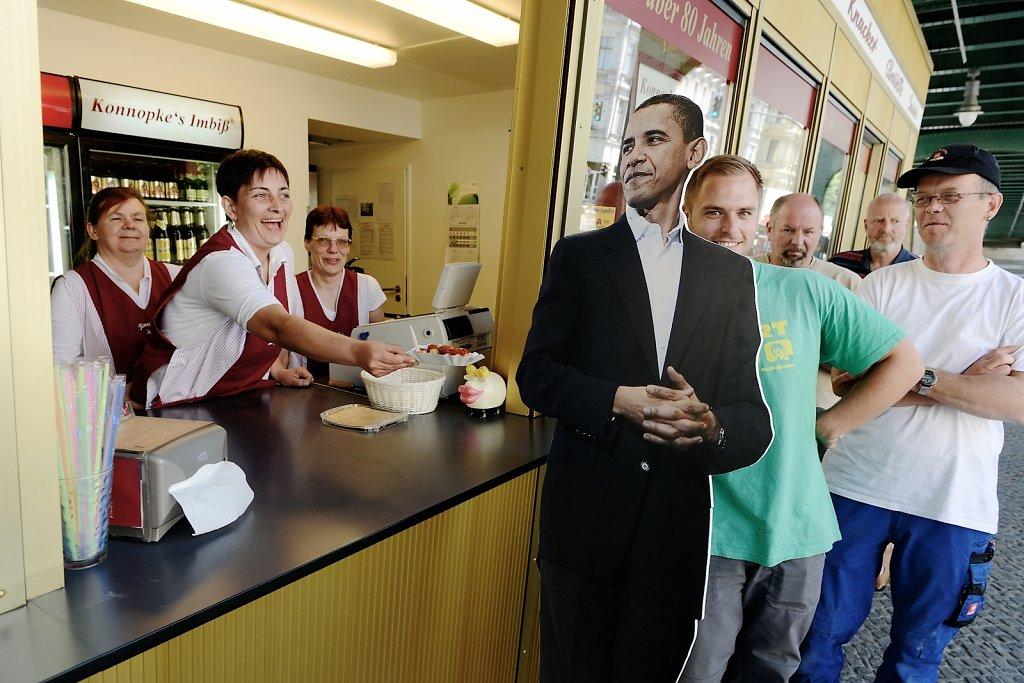 Praesident Obama besucht das richtige Berlin